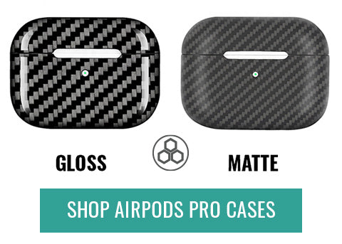 Carbon Fiber AirPods Pro Case Gloss Matte