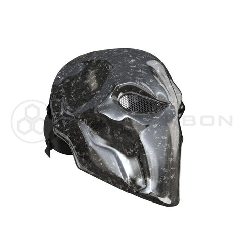 Original Carbon Fiber Mask Purmask Deathstroke Real Forged Carbon