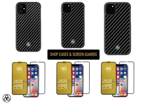 Pur Carbon Real Carbon Fiber iPhone 11 Pro Max Phone Cases Screen Protectors