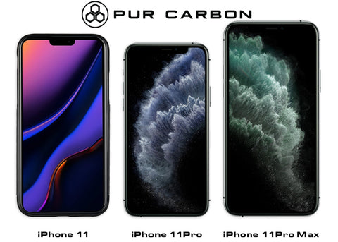 iPhone 11 Series Variations Carbon Fiber Phone Cases Pur Carbon