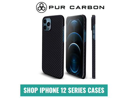 Carbon Fiber iPhone 12 Series Cases Pur Carbon AraMag Aramid Fiber