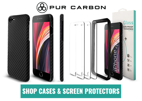 iphone SE carbon fiber case aramid fiber case AraMag Pur Carbon