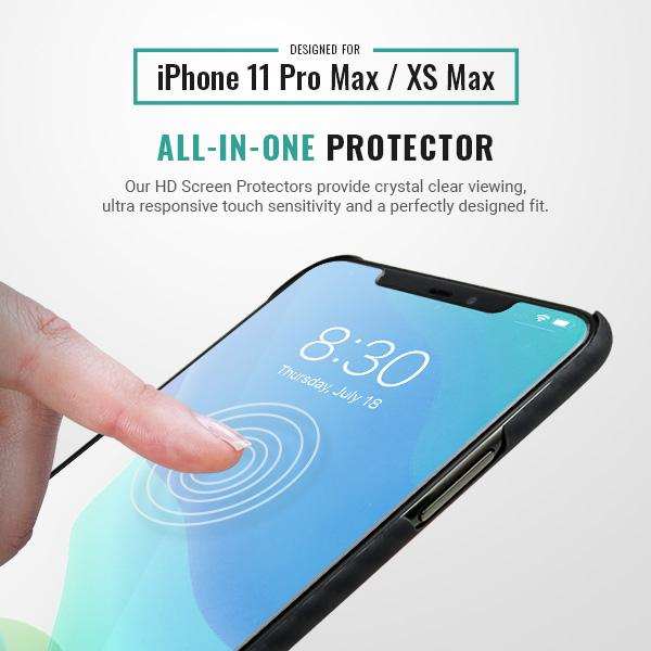 Best iphone 11 pro max screen protector easy install hd clear Pur Carbon