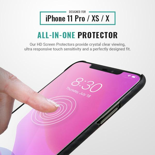 iphone 11 pro HD screen protector 9H Pur Carbon