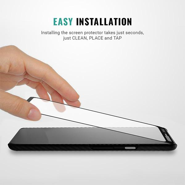 Easy installation Samsung Google Pixel 4 screen protector kit Pur Carbon