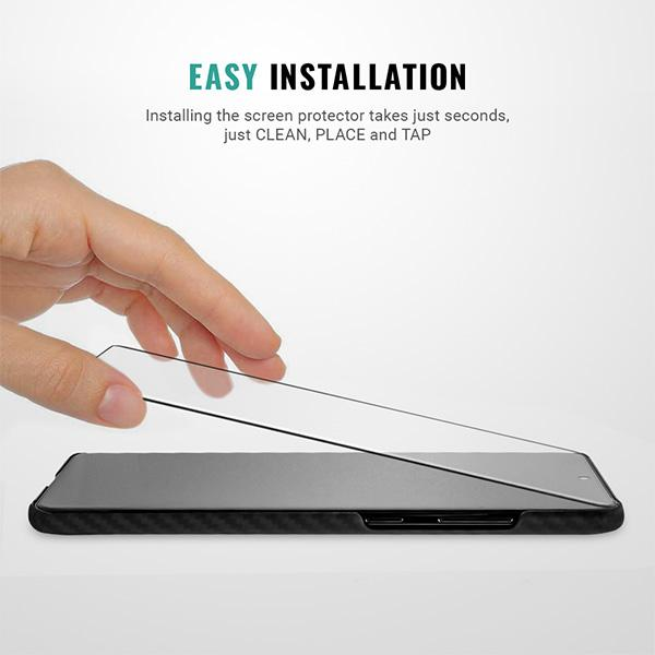 Easy installation Samsung Galaxy S20 Plus screen protector kit Pur Carbon