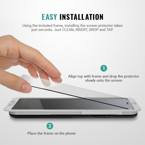 Easy installation iphone 11 pro screen protector tool frame bracket Pur Carbon