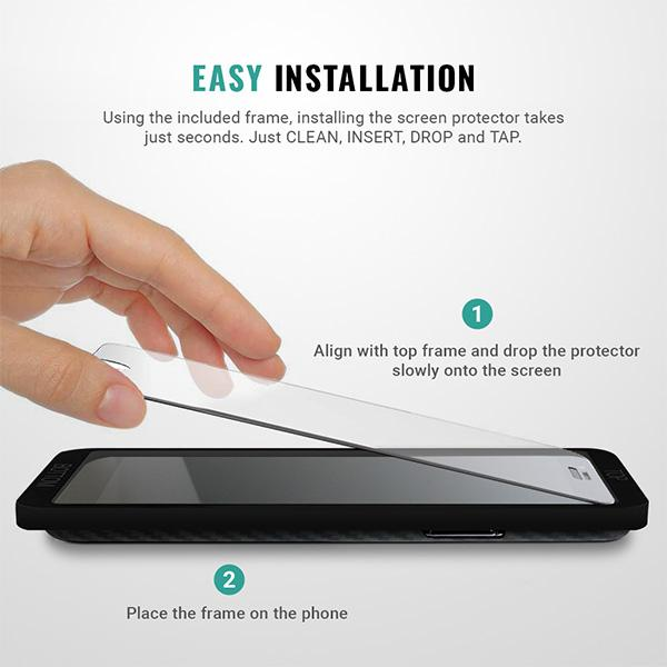 Easy installation iphone SE screen protector tool frame bracket Pur Carbon