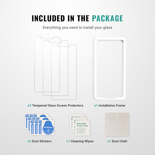 Best iphone 11 pro max screen protector installation kit guide easy 9H Pur Carbon