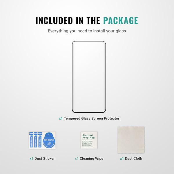 Best Samsung Google Pixel 4 screen protector installation kit guide easy 9H Pur Carbon