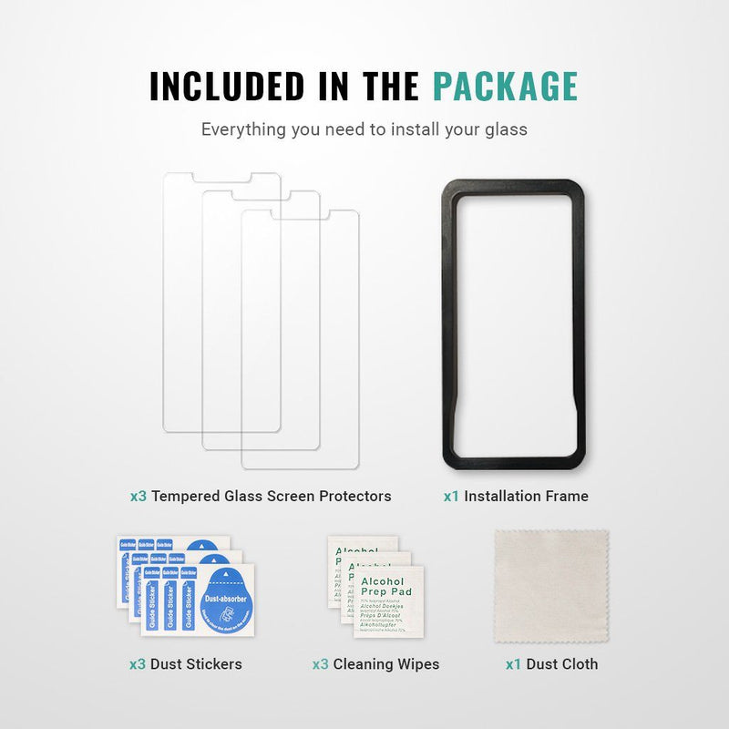 Best iphone SE screen protector installation kit guide easy 9H Pur Carbon