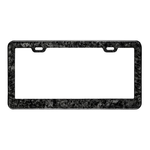 Forged Carbon Fiber License Plate Frame Pur Carbon