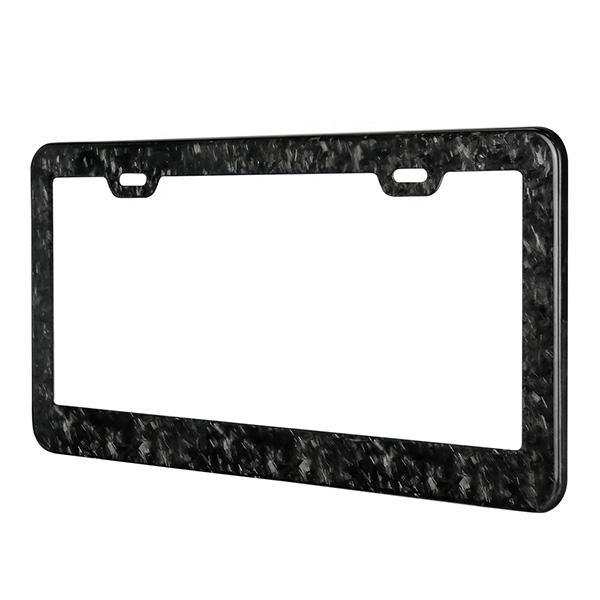 Forged Carbon License Plate Pur Carbon Fiber