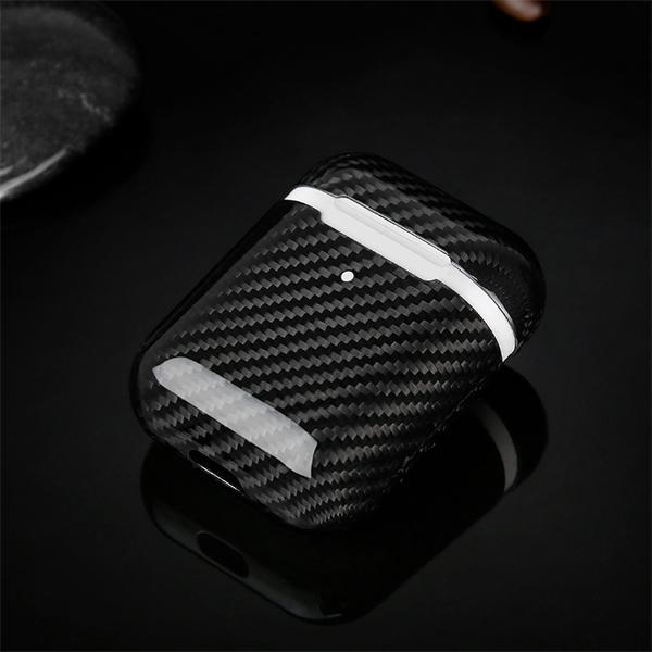 Wireless Charging Carbon Fiber AirPods 2 Case Pur Carbon