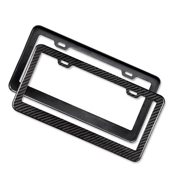 Carbon Fiber License Plate Frame Pur Carbon
