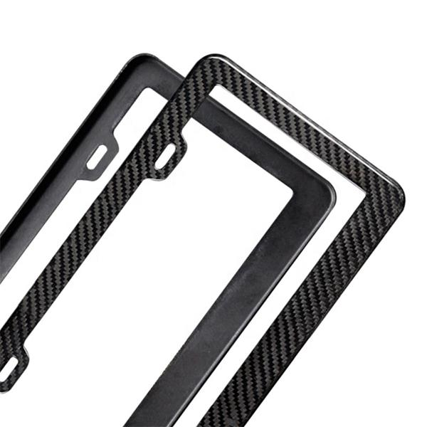 License Plate Frame Real Carbon Fiber Pur Carbon