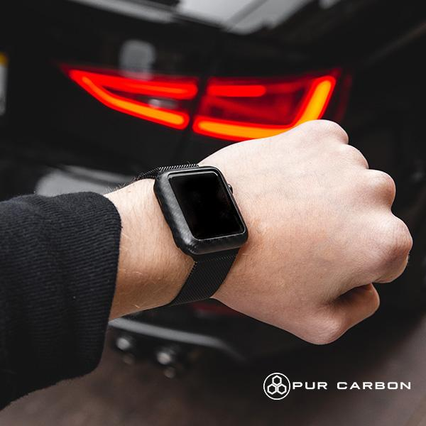 Apple iWatch Series 5 Carbon Fiber Case Series 4 Pur Carbon
