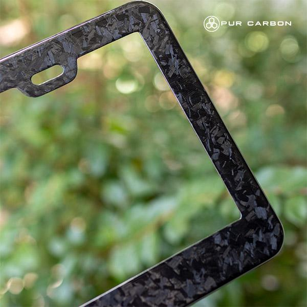 Real Forged Carbon Fiber License Plate Frame Pur Carbon