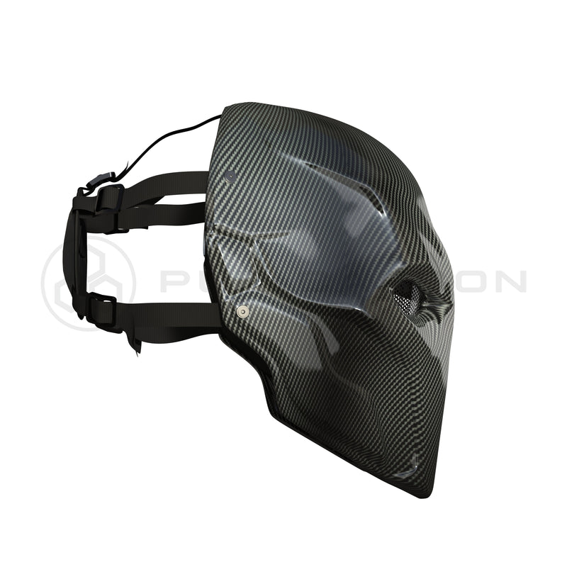 Deathstroke Mask Real Gloss Carbon Fiber deathstroke Pur Carbon