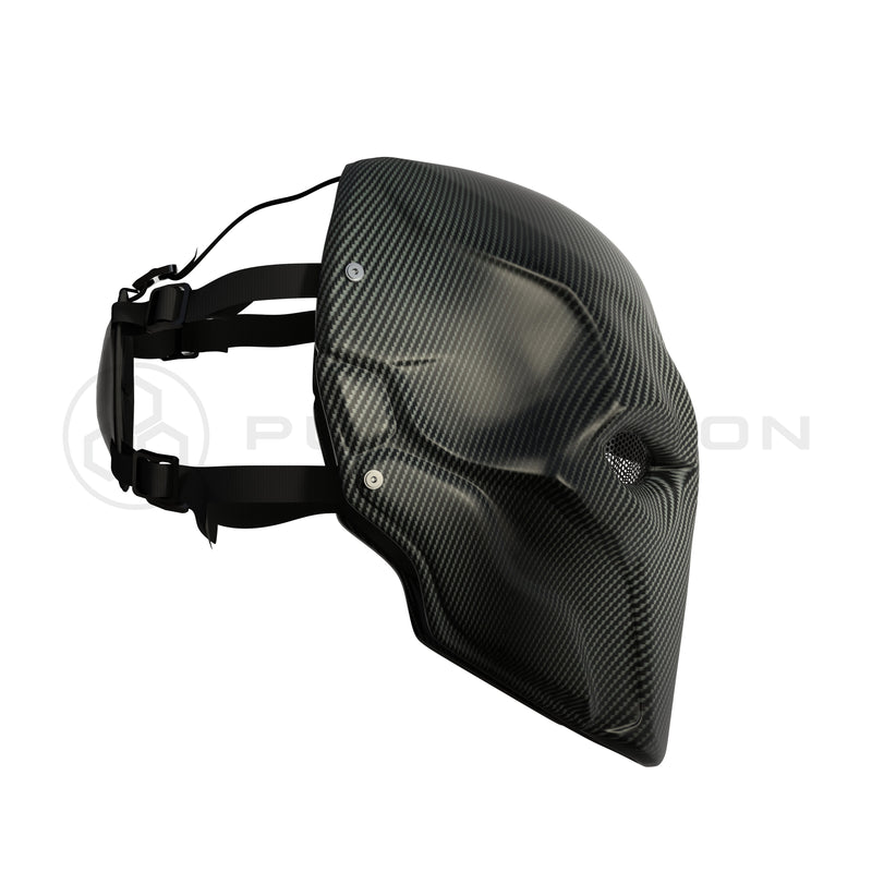 Deathstroke Mask Real Matte Carbon Fiber