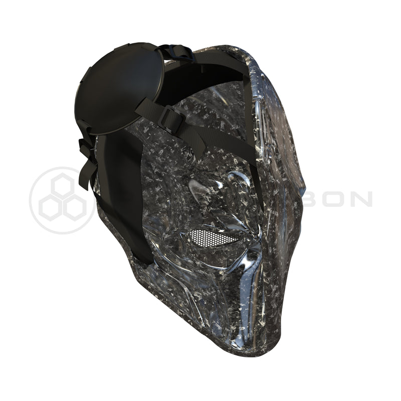 Deathstroke Mask Real Forged Carbon Fiber