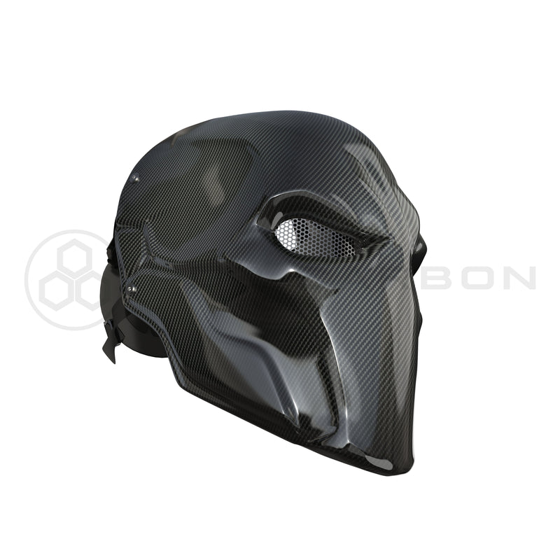 Deathstroke Mask Real Gloss Carbon Fiber