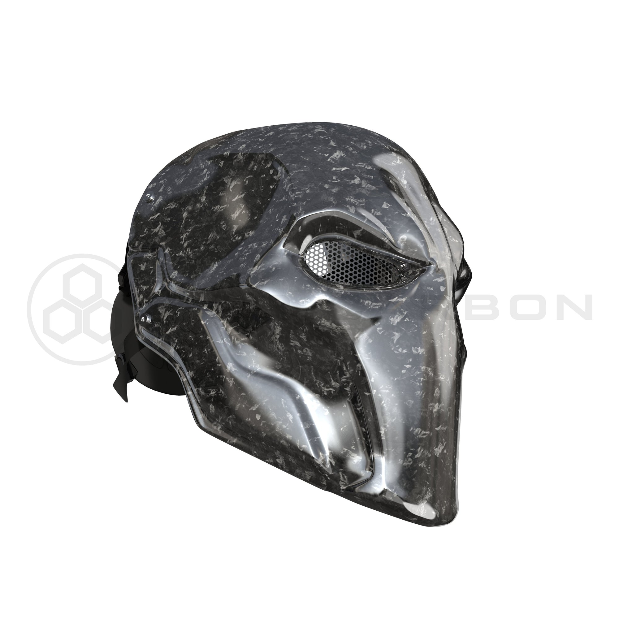 Deathstroke Mask Real Forged Carbon Fiber deathstroke Pur Carbon forgedcarbon