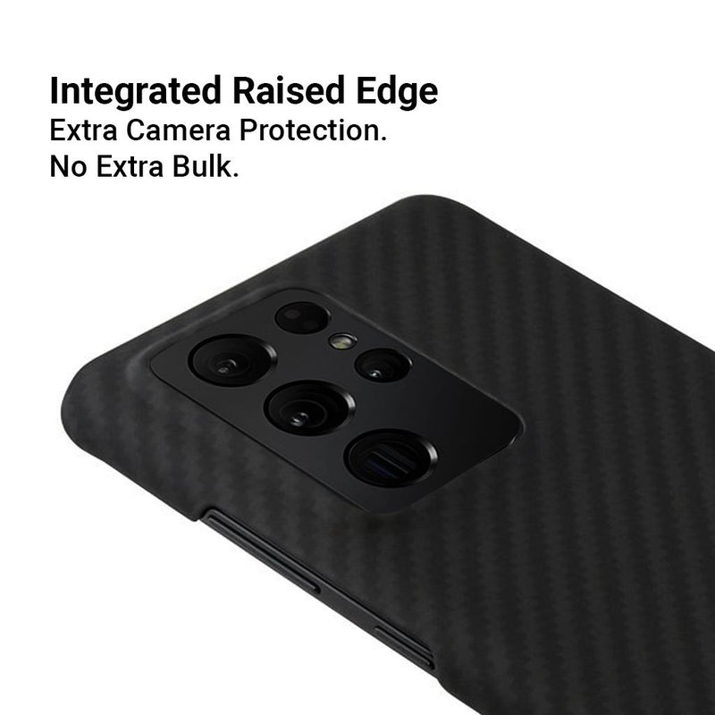 AraMag Case for Samsung Galaxy S21 Ultra 5G Case Pur Carbon