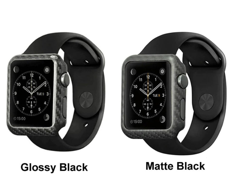 Matte Carbon Fiber Apple Watch Case Gloss