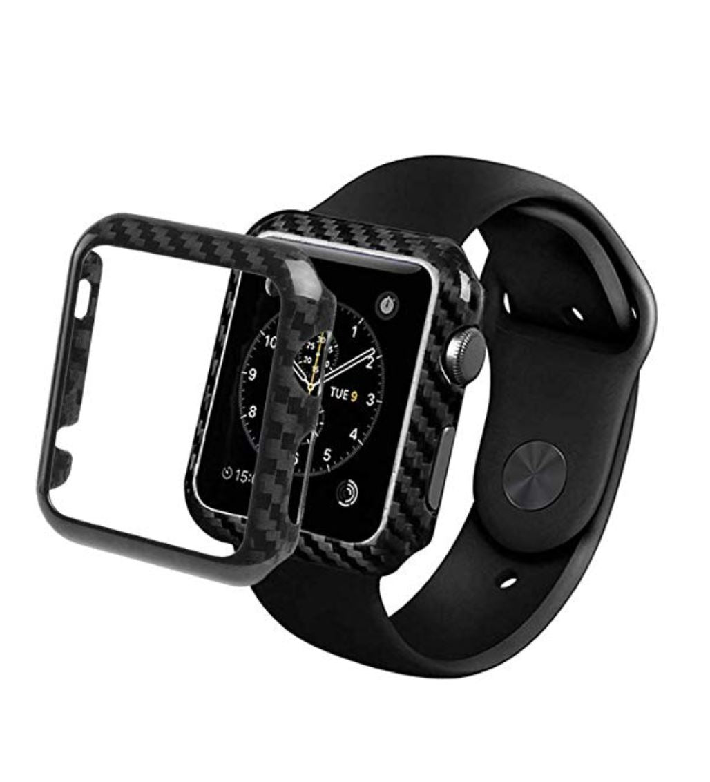 Real Carbon Fiber Apple Watch Case Simple Carbon
