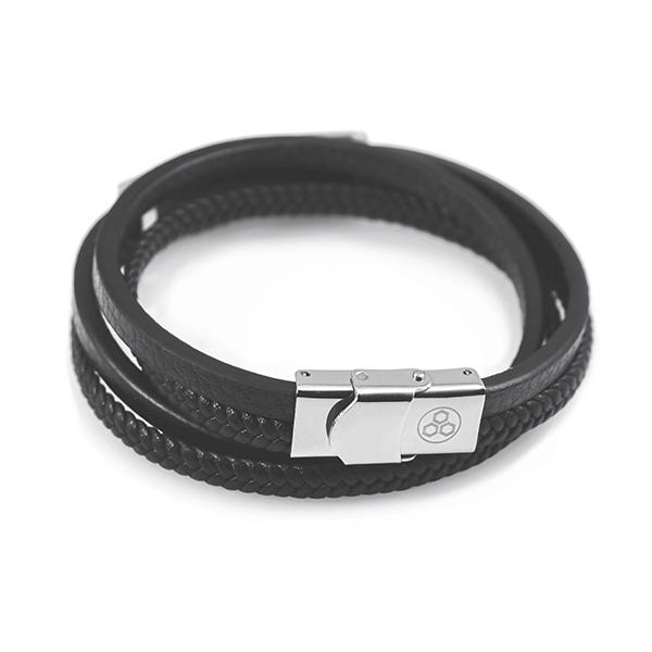 Leather Wrap Real Carbon Fiber Bracelet Pur Carbon