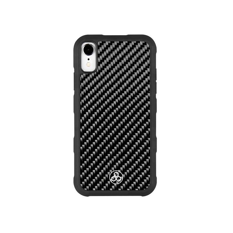 Real Carbon Fiber iPhone XR Phone Case Simply Strong Light Pur Carbon