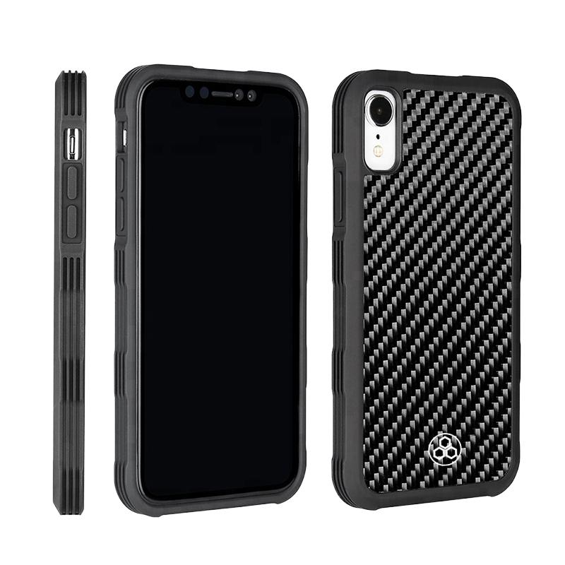 Real Carbon Fiber Phone Case iPhone XR Simply Light Durable Pur Carbon