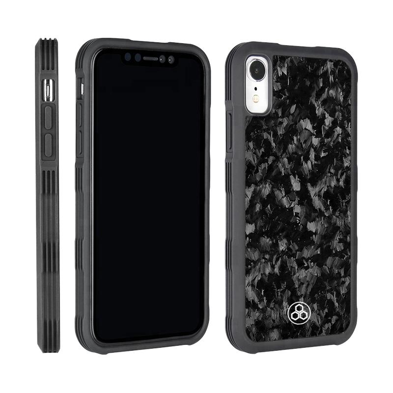 Forged Carbon Fiber Real Phone Case iPhone XR Protector Pur