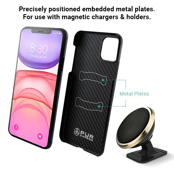 AraMag Case for iPhone 11 Case Pur Carbon