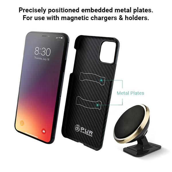 AraMag Case for iPhone 11 Pro Case Pur Carbon