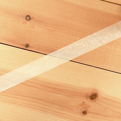Masking Tape - ROUND TOP, water ripple, 20mm x 8m