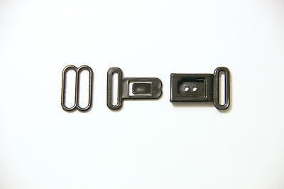 Bow Tie Hardware - 13mm, Plastic, Slide and Press Release Buckle, Black - KEY Handmade  - 1