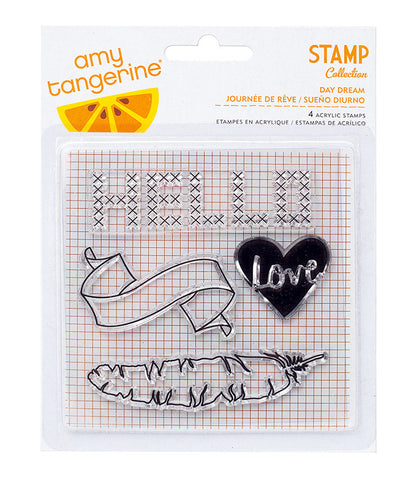 Stamps - Amy Tangerine, Stitched, Acrylic - Day Dream - KEY Handmade