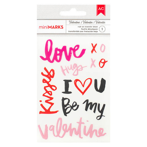 Rub-ons - American Crafts, Valentine, Words - KEY Handmade