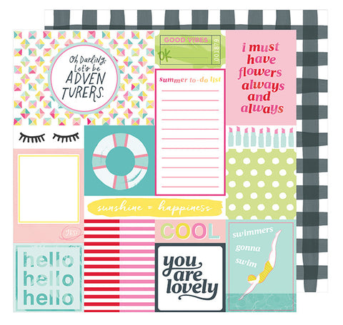 Cardstock - Dear Lizzy, Happy Place, Top Notch - KEY Handmade