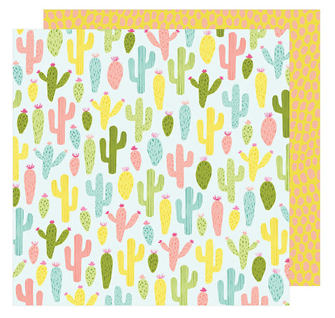Cardstock - Dear Lizzy, Happy Place, Cactus Cooler - KEY Handmade