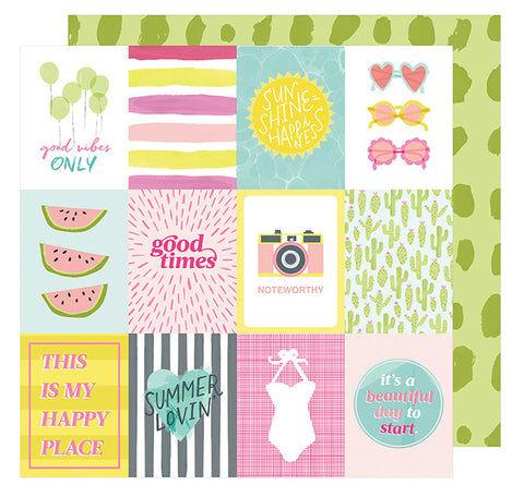Cardstock - Dear Lizzy, Happy Place, Sun Kissed - KEY Handmade