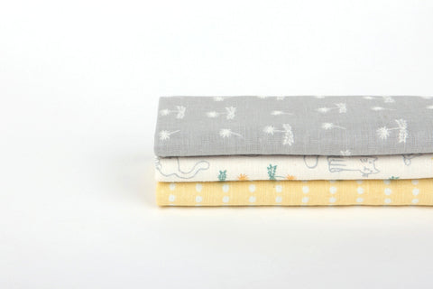 "Quarter Fabric Pack - Linen Cotton, Dailylike ""A Drowsy Spring Day"" - KEY Handmade  - 1"
