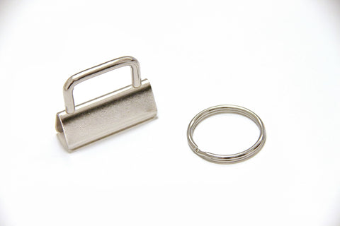 "Key Fob Hardware - 1.25"" (32mm), with 25mm Split Ring - KEY Handmade  - 1"