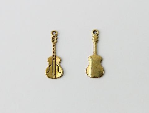 Charm - Violin, Antique Gold - KEY Handmade  - 1