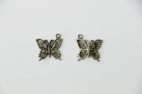 Charm - Butterfly, Antique Brass - KEY Handmade  - 1