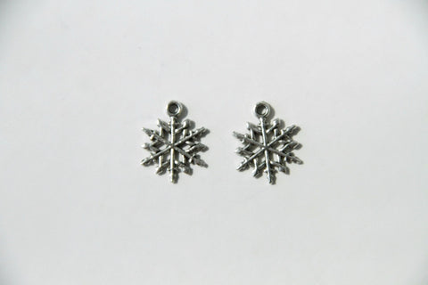 Charm - Snow Flake, Antique Silver - KEY Handmade  - 1