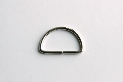D Ring - 1 1/4 inch, Split Unwelded, Silver - KEY Handmade  - 1