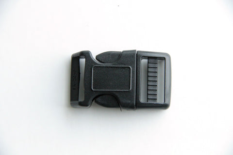 Side Press Release Curved Buckle - 3/4 inch, Plastic Heavy Duty, Black - KEY Handmade  - 1
